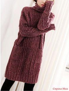 Crochet scarf chunky inspiration 28 ideas for 2019 Knit Skirt, Crochet Cardigan, Knit Dress, Knitwear Fashion, Knit Fashion, Angora, Crochet Woman, Sweater Knitting Patterns, Dress Patterns