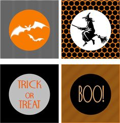 halloween banner, food labels, cupcake toppers/party circles: Embellish: free printables