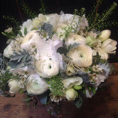 """27 likerklikk, 2 kommentarer – Botanica Blomster (@botanicablomster) på Instagram: """"En av helgens brudebuketter. #ranunculus #fresia #hydrangea #woksblomst #brud #botanicablomster"""" Floral Wreath, Wreaths, Home Decor, Garlands, Homemade Home Decor, Flower Crown, Decoration Home, Door Wreaths, Deco Mesh Wreaths"""