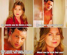 Greys Anatomy: Alex & Meredith. Such a cute friendship
