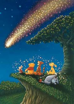 Tenyo Disney Winnie the Pooh Piglet - Meteor shower Tenyo Disney Japan Jigsaw Puzzle Origin : Japan (Made in Japan) Piece : 108 pcs Finished Size : x cm Remarks : Glow in the Dark Batch Ref : Cute Winnie The Pooh, Winne The Pooh, Winnie The Pooh Quotes, Winnie The Pooh Pictures, Disney Pixar, Disney Magic, Disney Art, Hundred Acre Woods, Disney Quotes