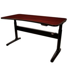 UpDesk Mahogany, $1,699, now featured on Fab. It has an electric motor to adjust up and down, so you can sit or stand or even slide a manual treadmill underneath.