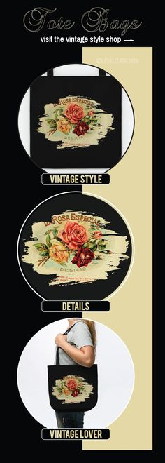 Vintage Cigar Box Label - 26 Tote Vintage Style.  A collection design inspired by vintage advertisements posters.  (Also available in adult apparel ,kids apparel , wall art , mugs , notebook , pillows , tapestries ,  phone & laptop cases, stickers.)   #vintage #retro #grunge #old #cigarbox #cigarlabel #vintageposter #buyart #giftideas  #vintagestyle #teepublic #lisaliza #vintagefashion #vintagetote #women #fashion #tote