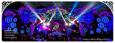 Festival decoration, stage deigns, video mapping