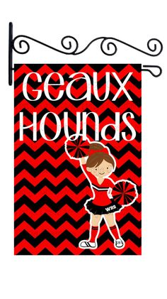 Go Hounds Cheerleader Garden Flag by TietjeCreative on Etsy, $32.00