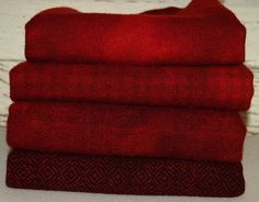 ANTIQUE RED  (a nice smoky shade) hand-dyed wool by Wool-N-Wares @ http://stores.shop.ebay.com/wool-n-wares