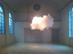 The Dutch artist Berndnaut Smilde creates clouds.