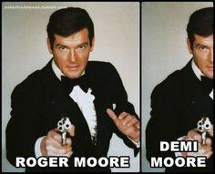 Roger & Demi Moore