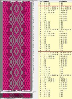 30 tarjetas, 3 colores, repite cada 24 movimientos / sed_764 diseñado en GTT༺❁