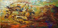 Original oil painting on canvas ready to hang - Stallion - Nizamas Art Gallery