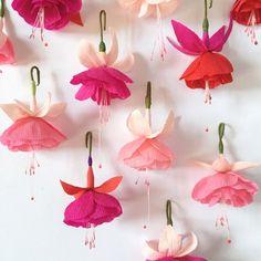 Paper Fuchsia Decorations A Petal Unfolds