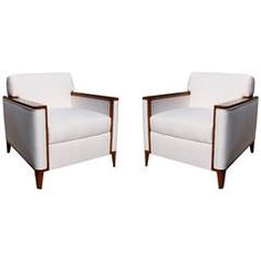 Pair of Club Chairs from a Private Theater, circa 1950-1960