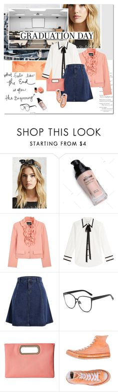 """""""#graduation"""" by undici ❤ liked on Polyvore featuring Forever 21, Boutique Moschino, Marc Jacobs, Jessica McClintock and Converse"""