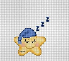 cross stitching pattern, sleeping star