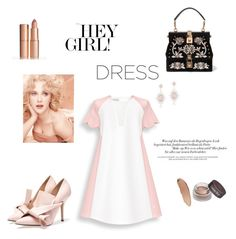 """""""Two - colors"""" by marianti on Polyvore featuring Dolce&Gabbana, Anne Sisteron, dress, weekend and twocolor"""