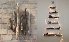 Don't want a regular Christmas tree this year? Check out these 60 alternative Christmas tree ideas that are simple and festive. Alternative Christmas Tree, Diy Christmas Tree, Rustic Christmas, Christmas Holidays, Christmas Decorations, Xmas Trees, Cheap Christmas, Holiday Tree, Green Christmas
