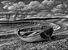 Edge of the Sea - Wood Engraving by Howard Phipps