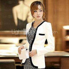 KissTies®Women's Long Sleeve Solid Color Fitted Blazer   LightInTheBox