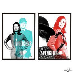 #TheAvengers Pair of #PopArt prints http://artandhue.com/shop/the-avengers-pair/ #mrspeel #johnsteed