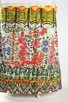 UrbanOutfitters.com > Garden Stripe Shower Curtain