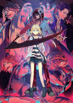 Satsuriku no Tenshi Otaku Anime, Manga Anime, Anime Art, Angel Of Death, Collage Mural, Super Anime, Japanese Horror, Rpg Horror Games, Satsuriku No Tenshi