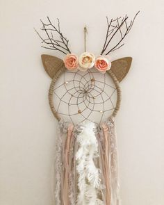 Danica Doe Deer Dream Catcher Excited to share this item from my . - Danica Doe Deer Dream Catcher Excited to share this item from my shop: Danica - Dream Catcher Craft, Dream Catcher Mobile, Large Dream Catcher, Dream Catcher Boho, Dream Catchers, Dream Catcher Bedroom, Dream Catcher For Kids, Diy Tumblr, Diy And Crafts