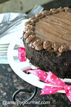 Insane Brownie Chocolate Cake Recipe | SnappyGourmet.com