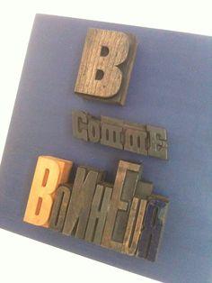 tableau personnalis en lettres anciennes d 39 imprimerie a vos lettres pinterest lettre. Black Bedroom Furniture Sets. Home Design Ideas