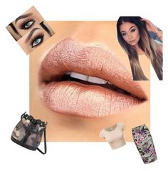 """""""Everyday metallic look"""" by makeuphobbyist ❤ liked on Polyvore featuring beauty, New Look and metalliclips"""