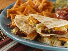 Hot and Spicy Chicken Quesadillas