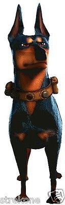 Disney-Pixar-UP-Movie-ALPHA-The-Doberman-Guard-Dog-Window-Cling-Sticker-NEW