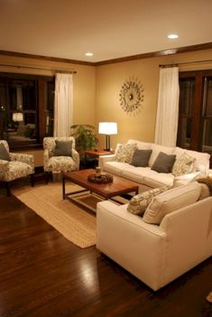 Warm Color Schemes For Living Rooms Arranging Your Room 43 Cozy And Kayla Jay Decor Brown Couches Yellow Small