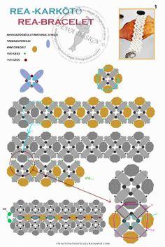 superduo-twin bracelet Ewa gyöngyös világa!: Minta / Pattern
