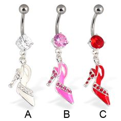 Shoe belly button ring