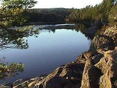 View of Muskoka River from the rocks