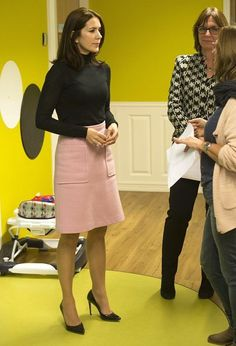 Crown Princess Mary of Denmark had several events at the 3rd World Conference of Women's Shelters at the World Forum today, but outside the program Crown Princess also visits the women's shelter and crisis centre of the Rosa Manus in Leiden on November 04, 2015.
