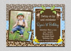 Jungle birthday invitation jungle party invitation safari party boys jungle birthday invitation monkey by thetrendybutterfly filmwisefo