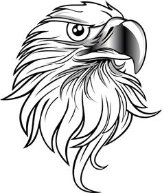 Eagle vector clip art - Free vector image in AI and EPS format. Adler Silhouette, Bird Silhouette, Pyrography Patterns, Wood Carving Patterns, Eagle Painting, Gravure Laser, Eagle Vector, Eagle Art, Eagle Outline