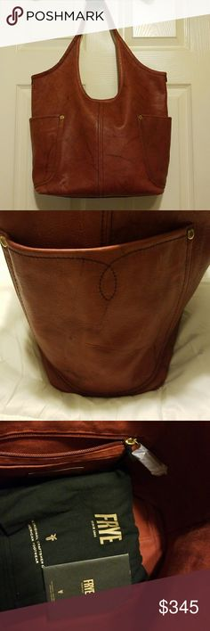 """NWT Frye Campus Shoulder Purse Magnetic closure, 4 interior pockets (including 1 zipper), 2 large exterior pockets on each side 7""""x8"""", 10"""" from the middle to the bottom, 16"""" wide, 12 3/4"""" from the side to the bottom. Fast priority shipping. No trades. Frey Bags Shoulder Bags"""
