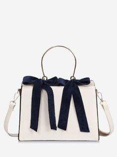 69aa6e89a51c Bowknot Metal Handle Handbag. Crossbody BagsClutch BagTote BagLadies  HandbagsLadies PurseLeather ...