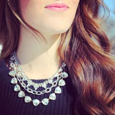 Silver sparkle with our Sutton Necklace, Christina Link Necklace, and Somervell Necklace.  www.stelladot.com/sites/laurenegallagher