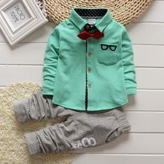 Gentleman Baby Boys Clothing Sets Sports Suits