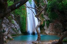 WATERFALL NEDA, MESINIA  It is in Platania, near Vasses, Lykaion, Lykosoura, Ancient Ithomi, Peristeria, Pylos!!!  www.iridaresort.gr