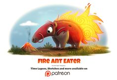 Day 1405. Fire Ant Eater, Piper Thibodeau on ArtStation at https://www.artstation.com/artwork/Qgbe3
