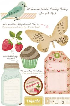 #Paper embellishments for #spring Cute!