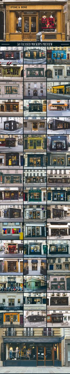 A massive collection of 100 Signs & Facades hight quality mockups.