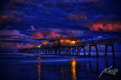 Fishing Pier at Daytona Beach Fl by Kim Seng