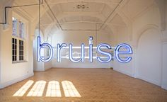 Camden Arts Centre: Glenn Ligon: Call and Response (installatie) Glenn Ligon, Light Font, Call And Response, Neon Words, Wallpaper Magazine, Land Art, Conceptual Art, American Artists, Installation Art
