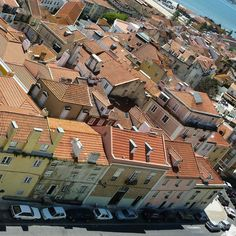 In Alfama Lisbon Portugal. Looking down at my apartment from the Pantheon. Travel Pictures, Travel Photos, European Vacation, Lisbon Portugal, City Photo, Life, Vacation Pictures