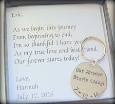 2995 our forever starts today from bride to groom gift new husband gift wedding day gift